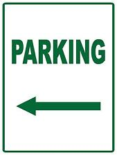 PARKING ARROW POINTING LEFT - METAL SIGN - 300 X 225MM - PARKING SIGN