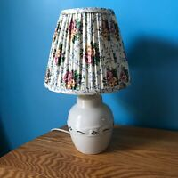Longaberger Pottery 1997 Woven Traditions Heritage Green Lamp with Shade