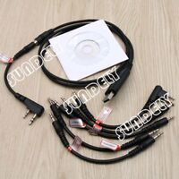 Fit MOTOROLA ICOM KENWOOD YAESU PUXING WOUXUN HYT 6 in 1 USB Programming Cable