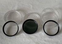 3 x Vintage 52mm SOLIGOR Camera Lens Filters 2 x Close-Up +1 & ND4