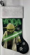 """Ruz Star Wars Yoda Black Christmas Stocking 20"""""""
