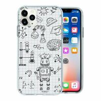 For Apple iPhone 11 PRO Silicone Case Science Chemistry Pattern - S3505