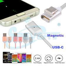 Magnet USB-C Kabel Ladekabel Datenkabel Typ C USB 3.1 Ladegerät Adapter silber