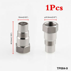 1x Stainless Steel Straight O2 Oxygen Sensor Extension Spacer CEL Fix-M18 x 1.6