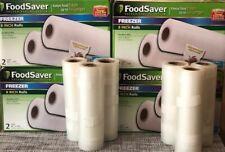 "New listing FoodSaver Rolls 8"" x 20' 4 boxes of 2 rolls each and Bonus 6 Rolls 6"" x 10.5'"