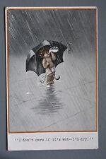 R&L Postcard: Fred Spurgin? Inter Art Quaint Kiddies 235, Child & Umbrella