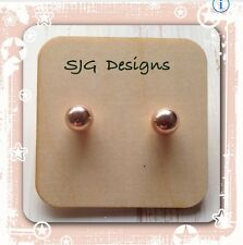 Rose Gold Plated Stud earrings-NEW- 8mm- free shipping
