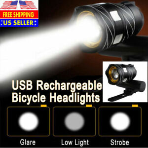 Bicycle Light Bike Front Headlight Rechargeable T6 LED MTB 15000LM XL-M Racing
