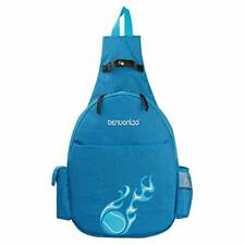 "Nylon Tennis Racquet Backpack Racket Shoulder Bag Outdoor Sports Blue For "" &"