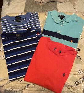 Set Lot of 3 Polo brand boys shirts, size L (14-16) Ralph Lauren EUC Bonus XL