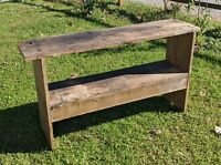 Antique Bucket Bench American Country Furniture Mortised Original as is