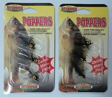 K & E Poppers for Crappie, Panfish, 2 Pks of 3 = 6, Black, Size 12 #SP123PK-I