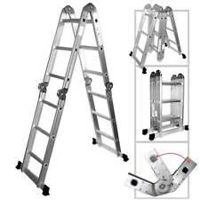 12.5' ft. Heavy Duty Multi Purpose Aluminum Ladder Folding Step Scaffold Extenda