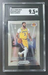 2020-2021 Prizm Anthony Davis 2012 Prizm Flashback SGC 9.5 Mint+ Lakers Insert