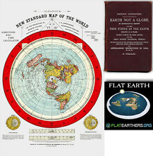 "Flat Earth Map - Gleason's New Standard Map Of The World - Medium 18 x 24""  1892"