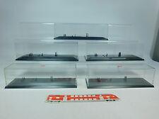 AU994-2# 5x Herpa H0 Vitrine 25 cm für Sattelzug/Lastzug/Hängerzug/LKW, sehr gut