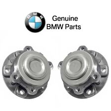 For BMW F10 F12 Pair Set of Front Left & Right Wheel Hub With Bearings Genuine