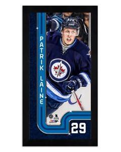 "Winnipeg Jets Patrik Laine 6.75"" x 13"" Mini Glass Front Frame NHL Hockey"