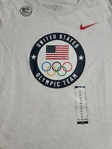 Nike United States Olympic Team T-Shirt Light Gray CN4481-051 Women's SIZE XL