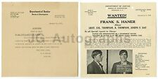 Wanted Notice - Frank Haner/Impersonating Government Officials - 1926