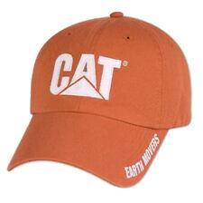 Caterpillar Trucker hat Burnt Orange Earth Movers on side of bill CAT logo Cap