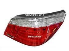 BMW e60 (07-10) Taillight w/ CLEAR Turn sig (R) ___ OEM 5-series lamp rear brake