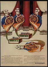 1971 MARANTZ Model 19 FM Stereo Receiver VINTAGE AD Musical Horns ZITO Art