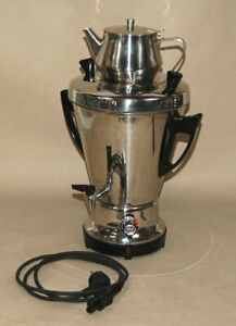 AMC Samowar 1006 Edelstahl 5 L 1200W - inkl. Teekanne und Kabel - geprüft