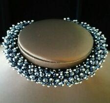 "Armband ""Black Crystal Messing"" 21cm +5cm  13mm breit TOP Sarah Kern"