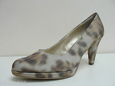 Peter Kaiser Verone taupe animal print court shoes UK 4.5/EU 37.5, RRP £105 BNWB