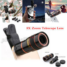 US 8X Zoom Optical Clip-on HD Telescope Phone Camera Lens For Most Cell Phones