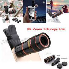 US Stock 8X Zoom Telephoto Telescope Lens Phone Camera Lens Clip For Smart Phone