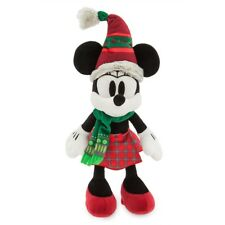 """DISNEY PARKS AUTHENTIC MINNIE MOUSE NORDIC WINTER HOLIDAY PLUSH 15"""" H SOFT NWT"""