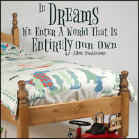LARGE HARRY POTTER QUOTE DREAMS ENTER WORLD THAT OWN WALL STICKER NEW DESIGN