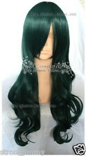 Hot Sell! New Long Dark Green DEAD MASTER Cosplay Curly Wig ST1