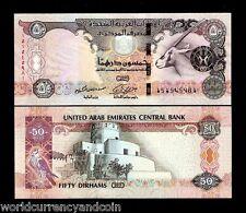UNITED ARAB EMIRATES 50 DIRHAMS P29d 2011 ORYX SPAROW UNC BILL UAE CURRENCY NOTE