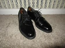 Vintage Hanover Black Oxfords Dress Shoes Military 9.5 Made USA