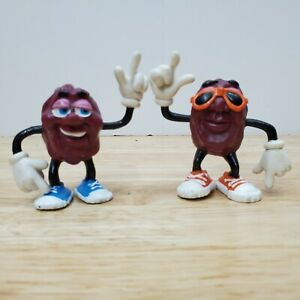 California Raisins Applause Figures 87 Lot of 2 Glasses 2 inch Lot A