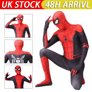 Kids Boys Spider-Man: Far From Home Spiderman Cosplay Costume Outfit Hero C1
