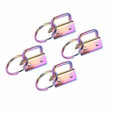 4Pcs Key Fob Hardware 25mm Rainbow Color Vacuum Plating keychain Split Ring