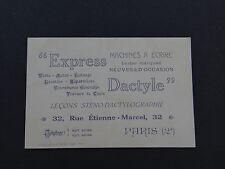 -karte besuch EXPRESS ORCHARDGRASS -maschine schreiben steno Paris old Visiten-