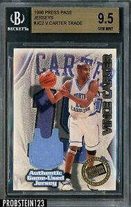 1998-99 Press Pass #JC2 Vince Carter RC Rookie Jersey BGS 9.5 GEM MINT 166/375