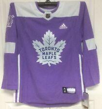 Hockey Fights Cancer Toronto Maple Leafs Purple 255J Adidas NHL Authentic Jersey