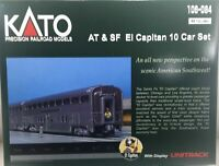 KATO N Scale Sante Fe El Capitan 10 Car SET w Display Unitrack 106-084 106084
