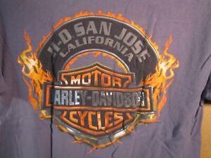Harley Davidson T-Shirt San Jose H-D California  Size M  Gray