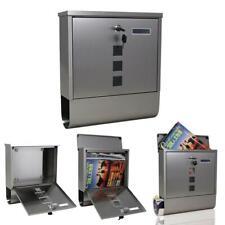New Wall Mount Mail Box Postal Box Security w/ Newspaper Roll + 2Key+ 4 Screws