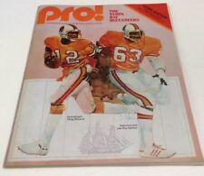 1979 Pro Football Program Tampa Bay Vs Detroit Nov 11 Lions edition