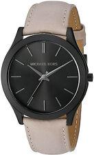 Michael Kors MK8510 Slim Runway Black Dial Leather Strap Men's Watch