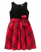 NWT Gymboree ROYAL RED Plaid Dress 5,6,7,8,10,12 Christmas Girls