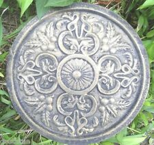 plaster concrete  tuscan scroll plaque / stepping stone plastic mold